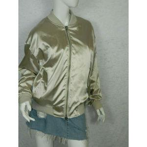 Kendall & Kylie Zipper Down Bomber Jacket Size M